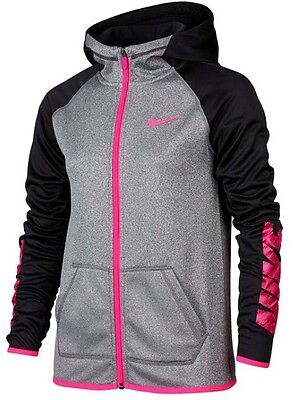 New Girl's Nike Dri-Fit Therma Full Zip Sweatshirt Hoodie 806017 Large NWT