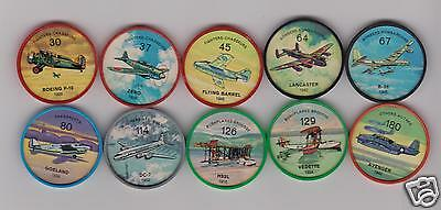1960's Jell-O / Hostess Airplanes 10 Coins