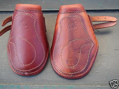 Pessoa quality leather used equine horse boots size small brown good condition