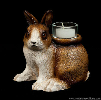 "Windstone Editions ""dexter"" Candle Lamp, Bunny, Rabbit, Animal Statue"
