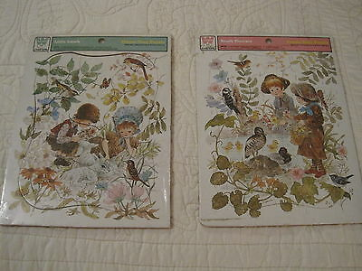 Lot of 2 vintage whitman frame tray puzzles 1975