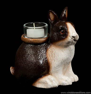 "Windstone Editions ""fletcher"" Candle Lamp, Bunny, Rabbit, Fantasy Animal Statue"