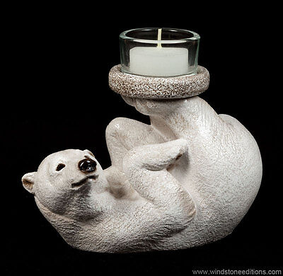 "Windstone Editions ""bear Feet"" Candle Lamp, Fantasy Animal Statue"
