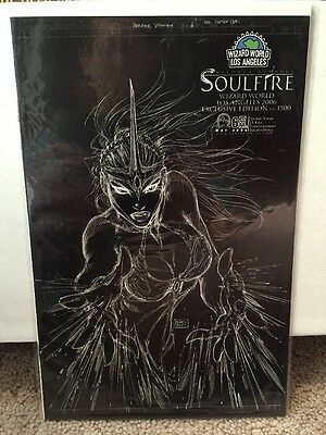 Soulfire Preview #6 Cover B Black Sketch Wizard World Turner Cover Comic Book
