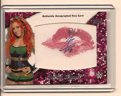 Becky Lynch 2016 Topps Wwe Then Now Forever Authentic Diva Kiss Card Auto /25