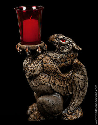 "Windstone Editions ""hippogriff"" Candle Lamp, Fantasy Animal Statue"
