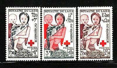 Laos Stamp. 1953. Sc#b1-B3. Mint. Mnh. Semi-Postal Mail. Laotian Children