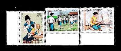 Laos Lao P.d.r. Stamp. 1996. Sc#1265-1267. Mint. Mnh. International Women's Day
