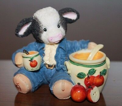 Enesco Mary's Moo moos 1995 Sweet Warm Wonderful 142832 Rhyner Boy Apples Fall