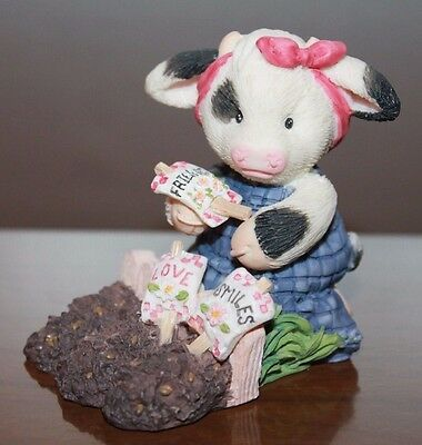 Enesco Mary's Moo moos 1996 Sowing the Seeds of Friendship 207004 Figurine EUC