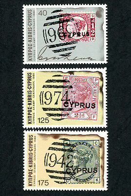 CYPRUS 1980 Centenary of Cyprus Stamps, SET OF 3, MINT Never Hinged
