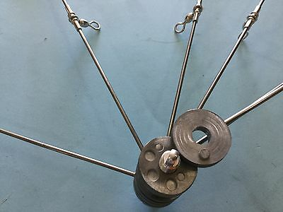 "Teaser Dredge Spider ""lead head""  Only 36 Inch Lead Head Weighted """