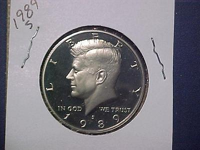 1989 S KENNEDY HALF DOLLAR CAMEO PROOF    bj23
