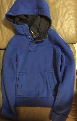 Abercrombie Boys Collared/hoodie Muscle Sweatshirt Size XL Blue!excellent!!!