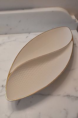Lenox Oblong Dish bowl 24k gold hand decorated - Perfect condition