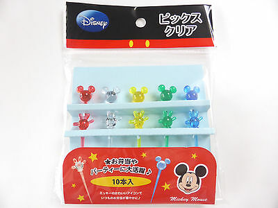 KAWAII Disney Mickey Mouse Clear Food Picks Bento Accessories FREE SHIPPING