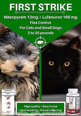 Flea Killer and Control for Small Dogs and Cats, Superior Quailty, 12 Capsules