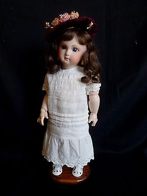 "Reproduction Antique Bru French Doll 15"" Jointed Composition Body Bisque Head"