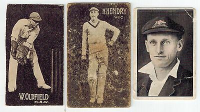 Giant Brand / Australian Licorice Cricketers Collector Cards (3)