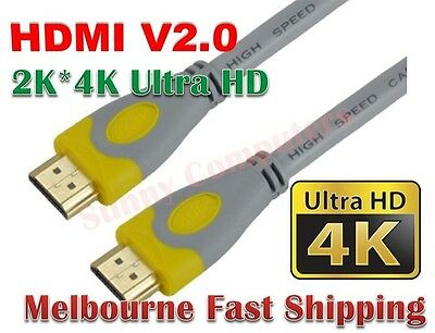 3M 5M 10M 15M 20M 4K@60Hz UltraHD Premium HDMI Cable v2.0 3D HighSpeed Cord AU