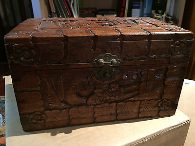 Carved Timber Box