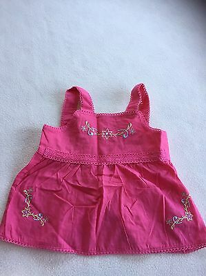 Baby Girls Clothes 6-9  Months - Cute Frilly Top -