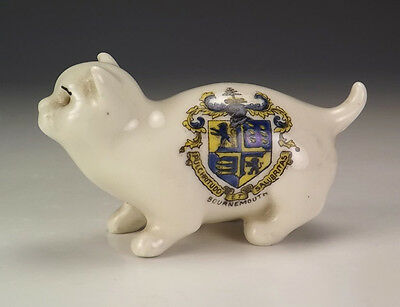 Vintage Crested China - Cat Figure - Bournemouth Crest - Nice!