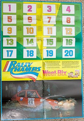 Sanitarium Weet-Bix - Rally Champs (1979) - Poster and All Cards (20)