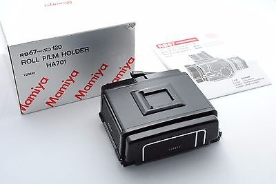 [Exc++] Mamiya RB67 Pro SD 120 Film Back Holder HA701 w/Box,Manual from Japan