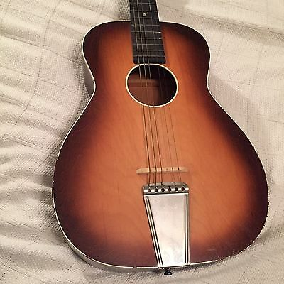 1963 Silvertone Harmony Parlor Vintage Acoustic Guitar Burst Made In USA!!
