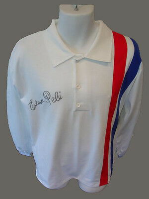 Pele signed / autographed Escape to Victory Shirt / Jersey, full sig. PROOF