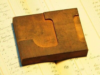 L -  letterpress wood printing block woodtype type print bold and wide stamp ABC