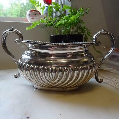 Lovely Double Handled Silver Plated Sugar Bowl - Container