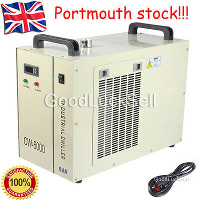 CW-5000AG Industry Air Water Chiller CO2 Laser Engraving Cutting Machine 220V UK
