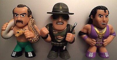 Funko Mystery Mini WWE Series 2 JAKE THE SNAKE SLAUGHTER RAZOR RAMON Target Set