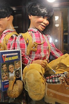 North American Native Ventriloquist Doll with Case and Clothes Selburg Studios
