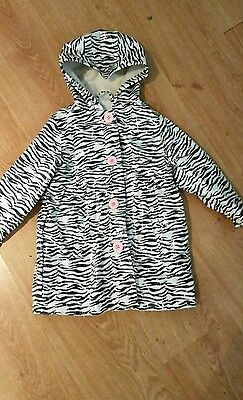 zebra girls rain coat aged 3-4 years