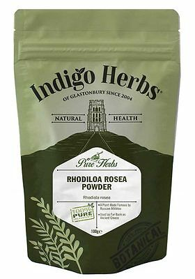 Rhodiola Rosea Powder - 100g - (Quality Assured) Indigo Herbs