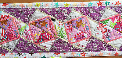 Handmade Patchwork TABLE Runner Pre cut FABRIC KIT and PATTERN  any colour