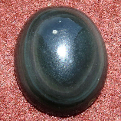 40.80CT Oval Natural Cabochon Obsidian Eye Loose Gemstone Aura.gems
