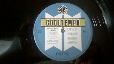 """CUTTY ~ Naughty Times ~ COOLTEMPO COOL105 12"""" Single  UK 1983 NEAR MINT"""