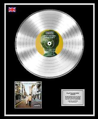 OASIS Ltd Edition CD Platinum Disc Record MORNING GLORY