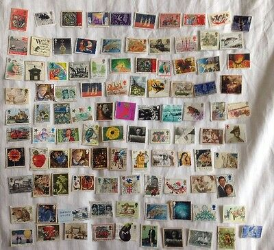 100 GB British Postage Stamps Commemorative and Christmas Franked Mix Kiloware