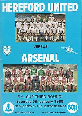 HEREFORD v ARSENAL 1984/5,FA CUP