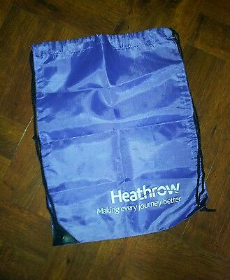 Collectable Terminal 2 Heathrow Airport Commemorative Goody Bag 17.5x12in approx