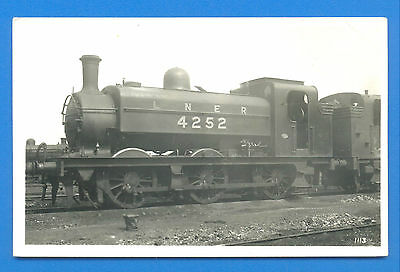 Lner 4252 At Unknown Location.postcard Size Photograph