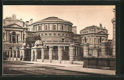 alte AK Dublin, National Library and Museum