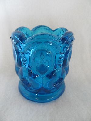 L.E. Smith Moon and Stars Blue Toothpick Holder