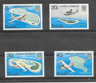 Maps Of Tuvalu; Sg 127-30 Mounted Mint 1979 Aircraft Of Internal Mail Service.