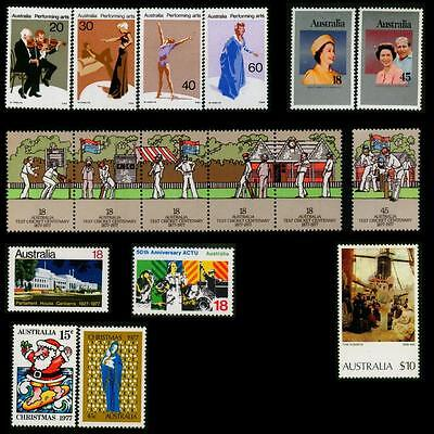 Australia MNH MUH Collection of Stamps - 1977 Complete Full Year
